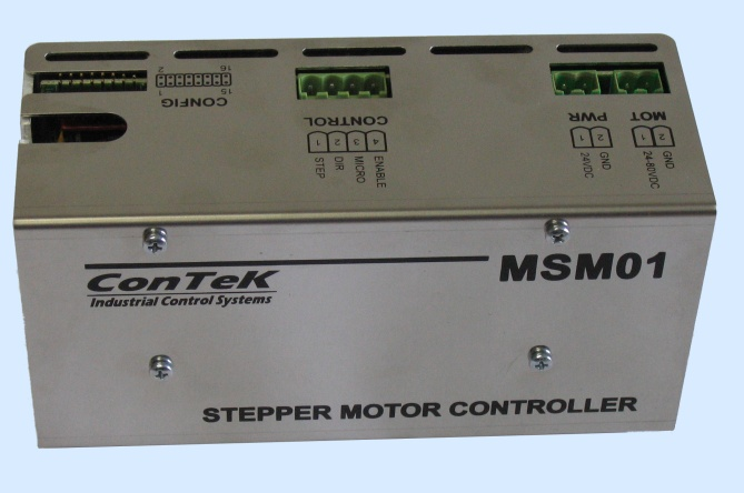 Contek industrial control systems for Step motors and control systems